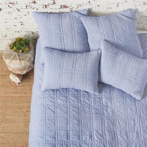 Denim Blue Cotton Quilt- Queen