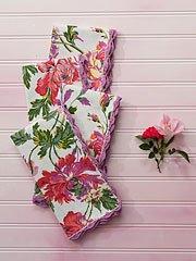 $36.00 Greta\'s Garden Napkin Set - Ecru