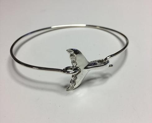 $90.00 STERLING SILVER WHALE TAIL BRACELET