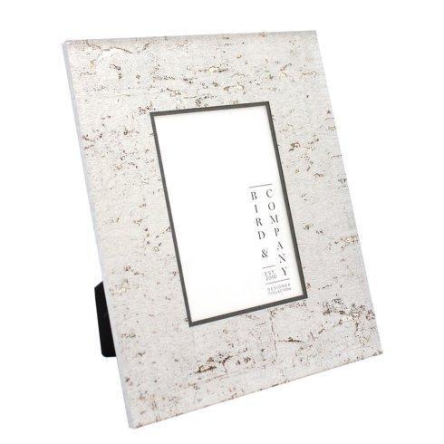$75.00 Pewter Cork/Silver Leaf 4x4 Frame