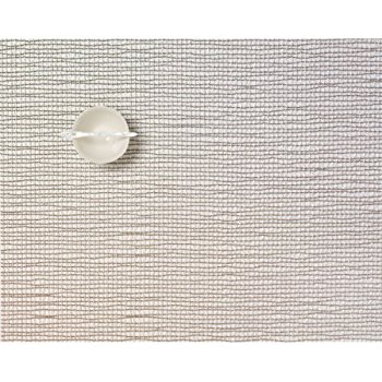 $16.50 Lattice Silver Rectangular Table Mat