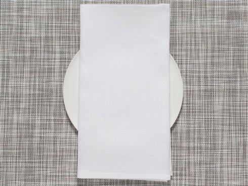 $9.50 Single Sided White Linen Napkin