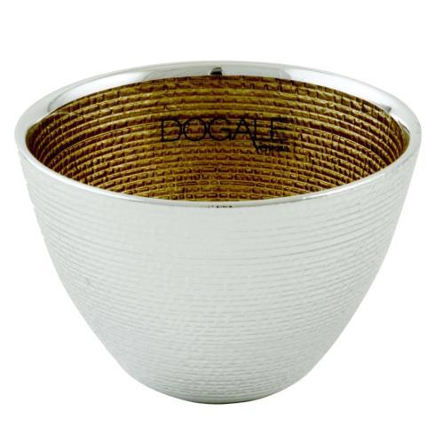 $50.00 Dogalini Gold Deep Bowl