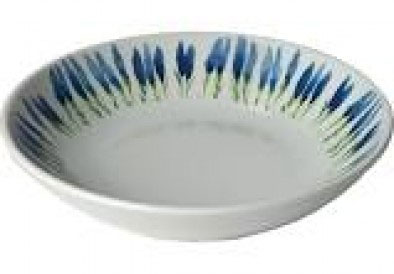 $35.00 Rimless Soup/Pasta Bowl with Lavender Fronds