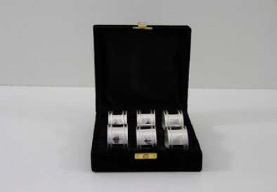 $267.00 Plain and Bead Napkin Rings - Silver Plate