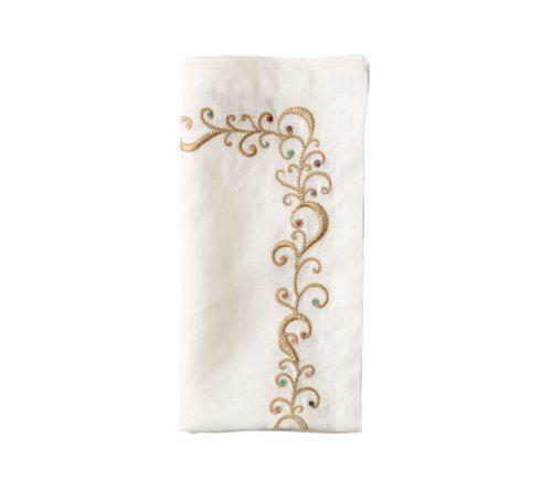 $33.00 Ritz White and Multicolored Napkin