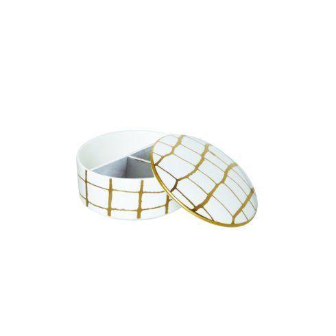 $95.00 Domenico Vacca Alligator Gold Jewelry Box