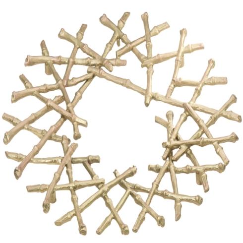 $64.00 Gold Bamboo Trivet