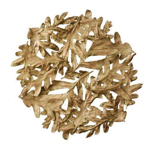 $70.00 Oak Leaves Gold Trivet