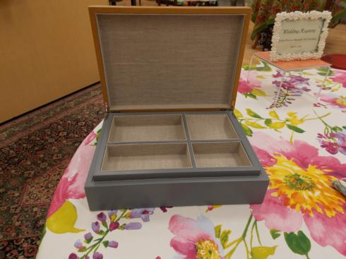$152.50 Grey wood box & Tray