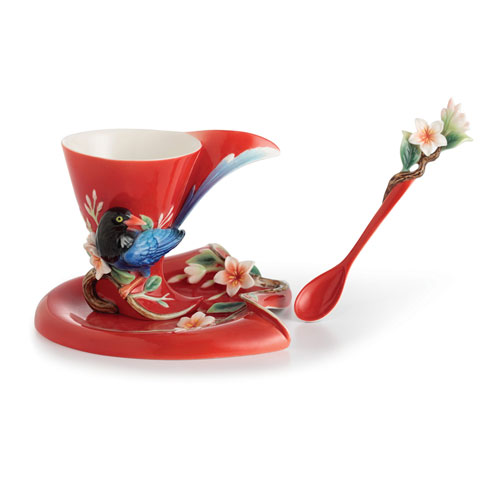 $180.00 Cup, Saucer, Spoon Set