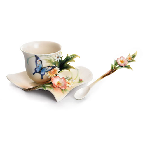 $240.00 Cup, Saucer, Spoon Set