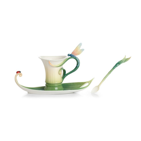 $198.00 Cup, Saucer, Spoon Set