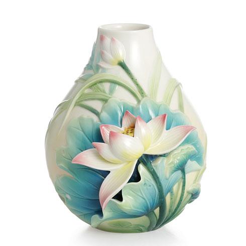 $218.00 Vase, Peaceful Lotus small