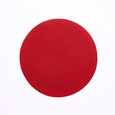 """$17.00 Holiday red round placemat, 15"""""""