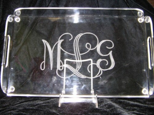 $77.00 English Butler Tray w/Monogram