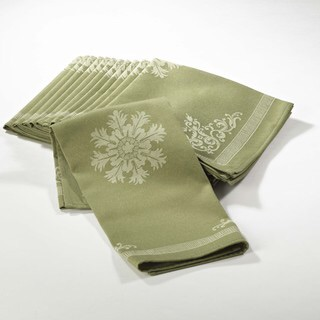 $6.50 Green jacquard napkin