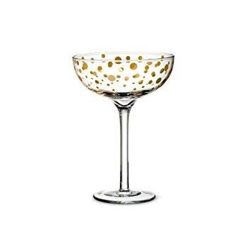 $18.99 Gold Dot Coupe Cocktail Glass