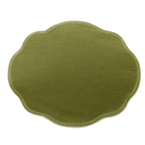 $44.00 Oval Scalloped Mat- single color