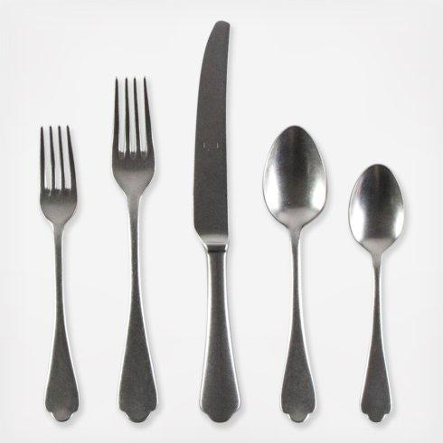 $68.00 Dolce Vita Pewter 5 piece place setting