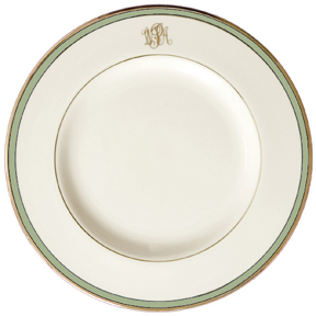$91.00 Green/Gold Salad - Monogram