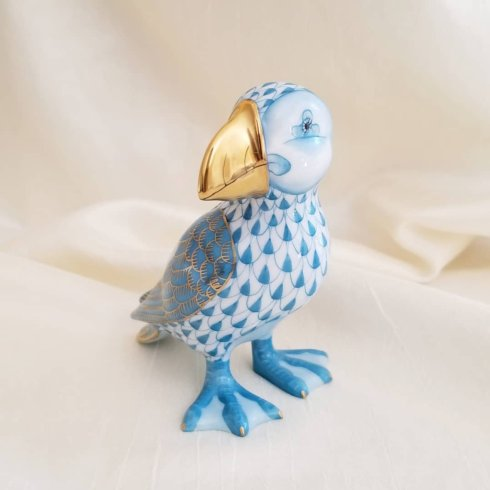 $395.00 Herend Puffin in Turquoise