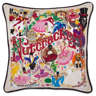 $150.00 Nutcracker Hand-Embroidered Pillow
