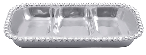 $98.00 Pearl Small 3-Section Server