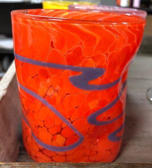 "$46.00 Wonkie Ware 4"" Double Old-Fashioned - Orange/Purple"