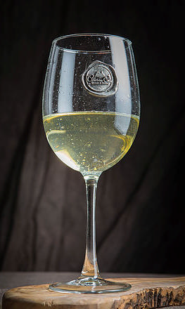 $18.00 Monogram Wine Glass