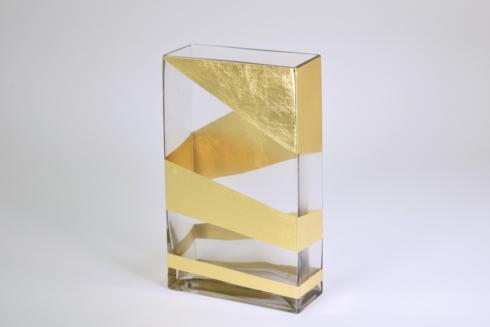 $81.00 10 inch Gold Vase