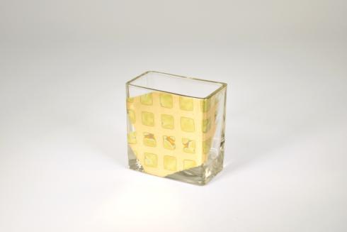 $35.00 4 inch Checkered Vase