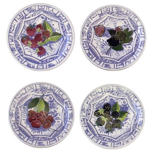 Gien oiseau bleu fruits products for What are canape plates