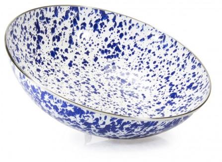 $42.00 Colbalt Swirl Catering Bowl