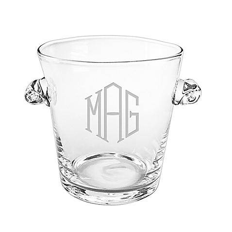 $63.00 Monogrammed Ice Bucket