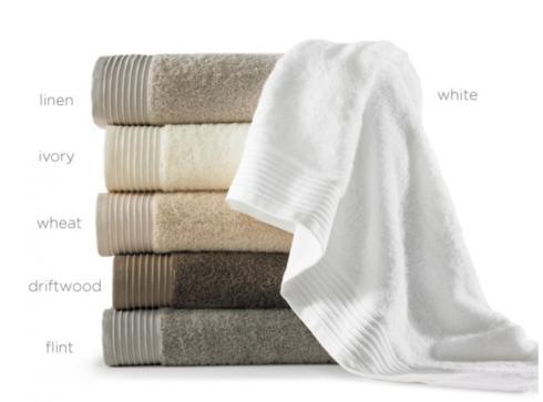 $39.00 White Bamboo Bath Towel