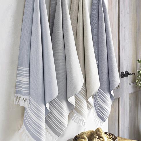 $36.50 Monogrammed Bath Fouta Bath Towel in Pewter