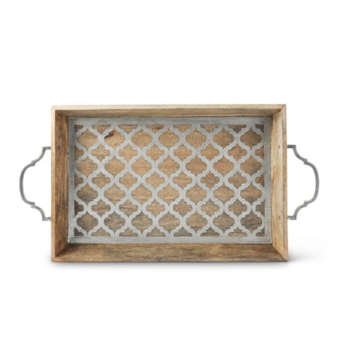 $156.00 Wood w/inlay Ogee Tray