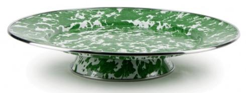 $31.50 Green Swirl Cake Plate