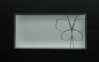 "$40.00 5 x 10"" Rectangle Butterfly Plate"