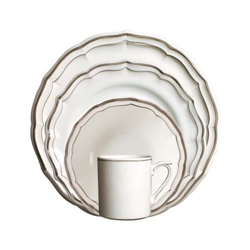 $156.00 Gien Filets Taupe Custom 4 Piece Place Setting
