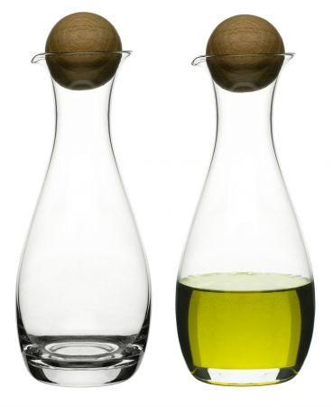 $40.00 Oil/Vinegar Bottles with Oak Stopper, Set of 2