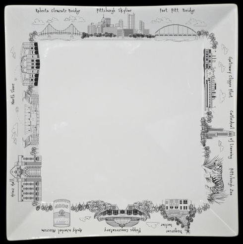 $35.00 Pittsburgh Small Square Plate