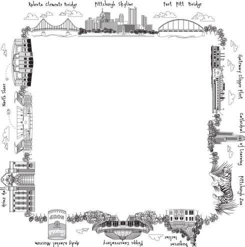 $50.00 Pittsburgh Square Platter