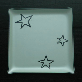 "$88.00 13"" Square Stars Plate"