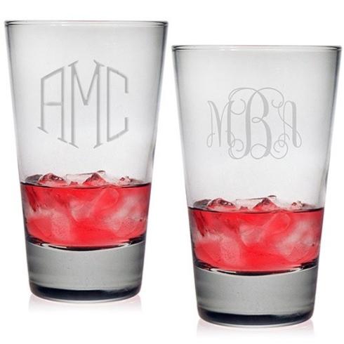 $65.00 Hiball Glasses - Monogram (Set of 4)