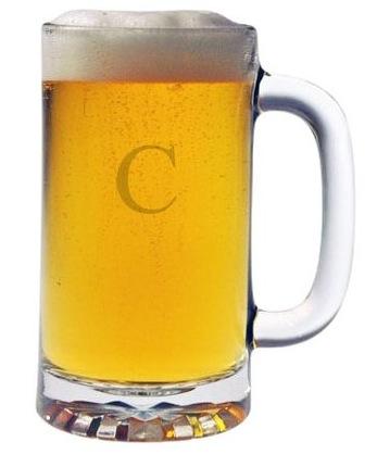 $65.00 Monogrammed Pub Beer Mugs, Set of 4