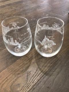 $20.00 Pittsburgh Wine Glass - Stemless