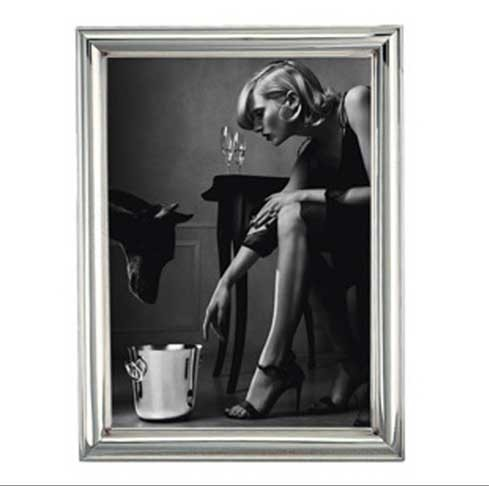 """$580.00 Albi Sterling Silver 5"""" x 7"""" Picture Frame"""