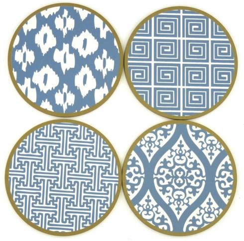 $24.95 Coaster Set Mixed Box Chinese Blue